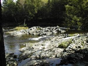 Falls at Wesserunsett Stream