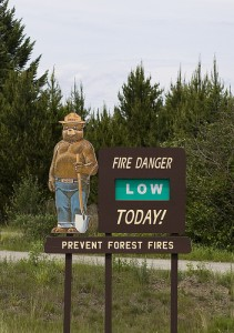 Maine Forest Service Fire Danger Sign