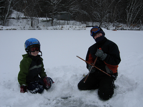 Ice fishing in maine wilderness realty maine land sale for Ice fishing maine